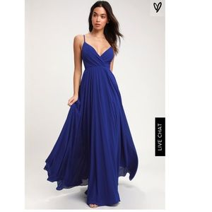 NWT Lulu's About Love Royal Blue Maxi Dress